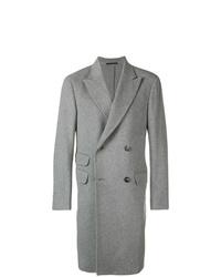 Серое длинное пальто от Z Zegna