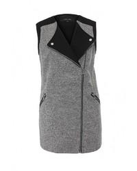 Женское серое пальто без рукавов от LOST INK