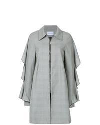 Женское серое пальто в шотландскую клетку от Strateas Carlucci