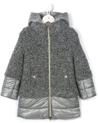 Детское серое пальто для девочке