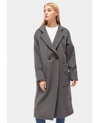 Женское серое пальто от Dorogobogato