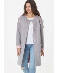 Женское серое пальто от FLY