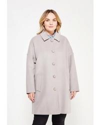 Женское серое пальто от Gamelia