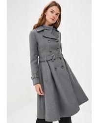 Женское серое пальто от Ruxara