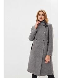 Женское серое пальто от Style national