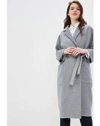 Женское серое пальто от Villagi