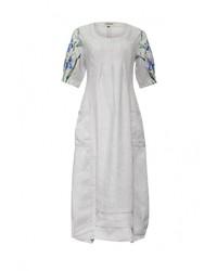 Женское серое платье-макси от Indiano Natural