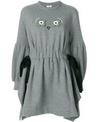 Серое платье-свитер от Fendi