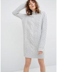 Женское серое платье-свитер от Gestuz