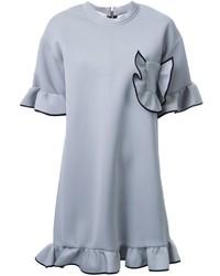 Женское серое платье-свитер от Marni