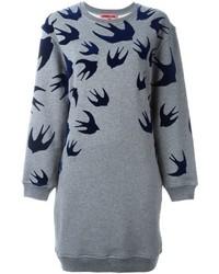 Женское серое платье-свитер от McQ by Alexander McQueen