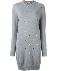 Женское серое платье-свитер от No.21