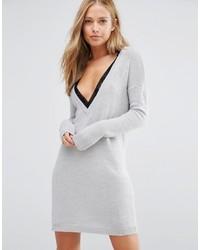 Женское серое платье-свитер от Vila