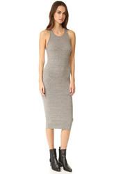 Женское серое платье-футляр от Enza Costa