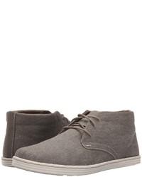 Серые ботинки дезерты из плотной ткани