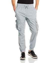 Серые брюки карго