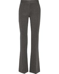 Серые брюки-клеш