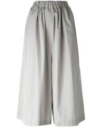Серые брюки-кюлоты