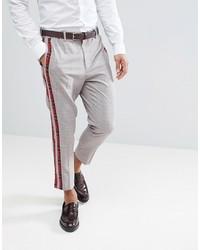 Серые брюки чинос в шотландскую клетку от ASOS DESIGN