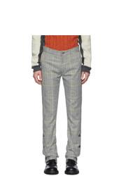 Серые брюки чинос в шотландскую клетку от Daniel W. Fletcher