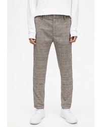 Серые брюки чинос в шотландскую клетку от Pull&Bear