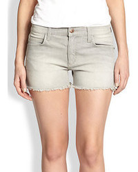 Серые джинсовые шорты