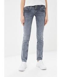 Женские серые джинсы от Pepe Jeans