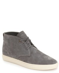 Серые замшевые ботинки дезерты