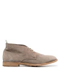 Серые замшевые ботинки дезерты от Officine Creative