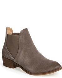 Серые замшевые ботинки челси