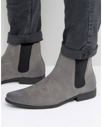 Мужские серые замшевые ботинки челси от Asos