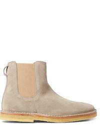 Мужские серые замшевые ботинки челси от Folk