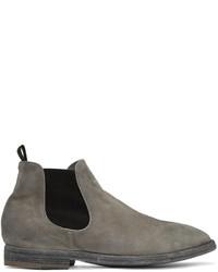 Мужские серые замшевые ботинки челси от Officine Creative