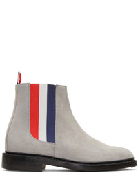 Мужские серые замшевые ботинки челси от Thom Browne