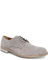 Серые замшевые туфли дерби