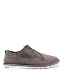 Серые замшевые туфли дерби от Marsèll