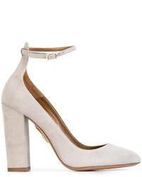 Женские серые замшевые туфли от Aquazzura