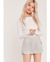 Серые замшевые шорты