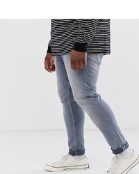 Мужские серые зауженные джинсы от ASOS DESIGN