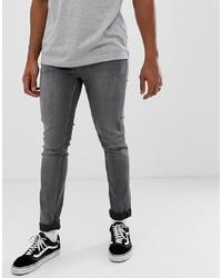 Мужские серые зауженные джинсы от Cheap Monday