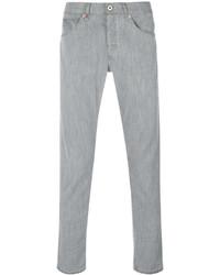Мужские серые зауженные джинсы от Dondup
