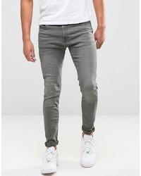 Мужские серые зауженные джинсы от Jack & Jones