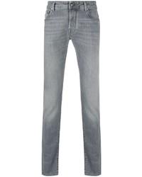 Мужские серые зауженные джинсы от Jacob Cohen