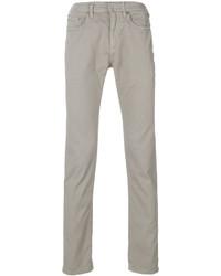 Мужские серые зауженные джинсы от Neil Barrett