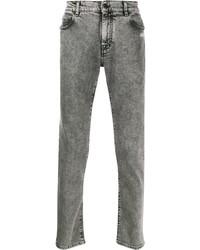 Мужские серые зауженные джинсы от Off-White