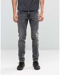 Мужские серые зауженные джинсы от Weekday