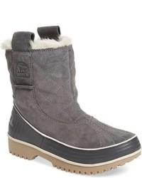 Серые зимние ботинки