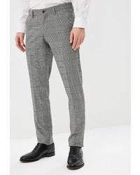 Мужские серые классические брюки в клетку от Angelo Bonetti