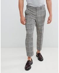 Мужские серые классические брюки в клетку от ASOS DESIGN