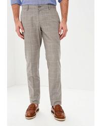 Мужские серые классические брюки в клетку от BAWER